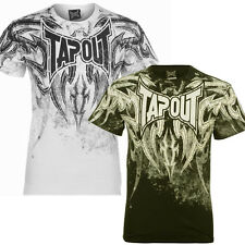 Tapout Mens Corruption  UFC MMA Short Sleeve Cage Fighter T shirt Black New