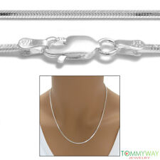 925 Sterling Silver Diamond Cut Snake Chain Necklace (Choose Width and Length)