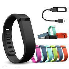Large Replacement Wrist Band + Clasp USB Charging Cable For Fitbit Flex Bracelet