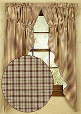 Apple Jack Lined Gathered Swag Pair by Park Designs, 72x36 or 72x63 Pairs, Sets