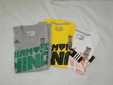 New Boy's Adidas T-Shirts in White, Gray or Yellow - Sizes S, M, L - NWT
