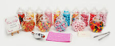 Plastic Sweet Jars Tongs & Bags Candy Wedding Party Kids Pick & Mix