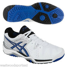MEN'S ASICS GEL RESOLUTION 6 TENNIS SHOES (WHITE/BLUE/SILVER) NEW IN BOX