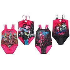NEW Girl Kids Monster High Skull Swimsuit Swimwear Swimming 5-14Y Unique Fashion