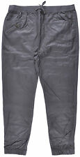 Plus Size Twill Refuel Harlem Dance Faux Leather Fashion Apparel Jogger Pants
