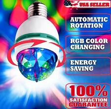 3W E27 RGB CRYSTAL MAGIC BALL ROTATING LED STAGE LIGHT BULB CLUB DJ DISCO PARTY