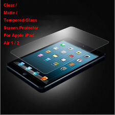 Tempered Glass / Clear / Matte Film Screen Protector For Apple iPad Air 1 2 Lot