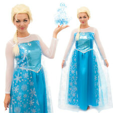 Adult Elsa Frozen Inspired Snowflake Party Fancy Dress Princess Costume
