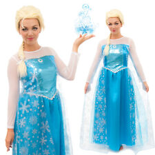 Queen Elsa Inspired Adult Snowflake Party Dress Up Princess Costume NEW