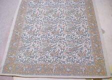 Pottery Barn Kalamkari Print Cotton Dhurrie ivory green orange kilim rug carpet