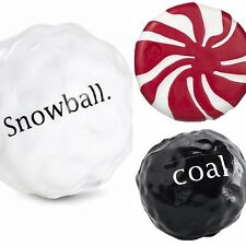 Planet Dog Orbee Tuff Snowball or Coal or Peppermint Holiday Toy - Your Choice