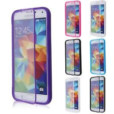 TPU Wrap Up Flip Case Cover Transparent Touch Skin For Samsung Galaxy S5 SV G900