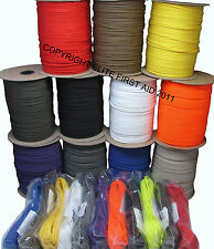 PARACHUTE CORD PARACORD  550  TYPE III 7  STRAND 1 50 100 1000 FT US MADE