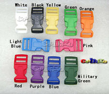 """5/8"""" Colorful Contoured Side Release Buckles for Paracord Bracelets Backpack"""