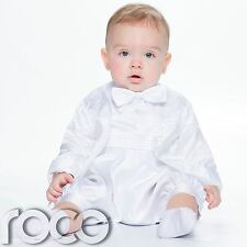 Baby Boys White Christening Outfit, Boys Romper Suit, Christening Suit