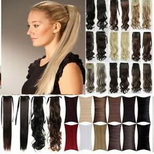 Straight/Curly/Corn wave Tie UP Ponytail Clips in Hair Extensions 2jw