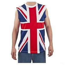 80's Union Jack DEF LEPPARD UK Flag Sleeveless Heavy Metal Shirt Tank Top