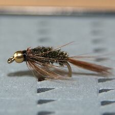 6 Gold Head Nymphs Trout Fly fishing flies by Dragonflies 14 patterns