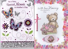 To A Nannie or Nanny Happy Mother's Day Card - Good Quality Various Designs