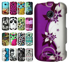 T-Mobile ZTE Zinger Rubberized HARD Protector Case Phone Cover +Screen Protector