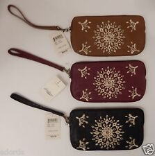 LUCKY BRAND BLACK CRANBERRY COGNAC CASBAH LEATHER WRISTLET WALLET PURSE $88 MSRP