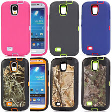 For Samsung Galaxy S4 Shockproof Defender Case Cover Build in Screen Protector