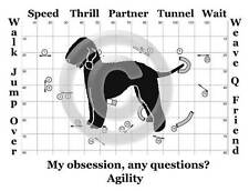 Bedlington Terrier Dog Agility Course - My Obsession, Any Questions? T-shirt