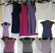 M&S LADIES COTTON VEST TOP,WOMEN,GIRLS.STRETCH.6 8 10 12 14 16 18 20 22.POST 3