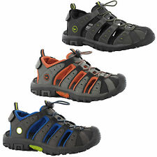 New Boys Hi-Tec Sports Adventure Trail Walking Closed Toe Sandals Shoe Size 10-6