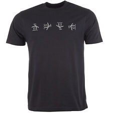 Mens Penguin Tumbling Pete T-Shirt In Black Penguin Is One Of Our Top Brands DD2