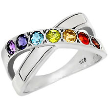AAACP223 HEALING CHAKRA 925 STERLING SILVER RING JEWELRY