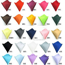 Mens Pocket Square Satin Solid Handkerchief Hanky for Wedding Suit Party