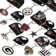 NFL Team Keyrings Key Ring Fob 100% Official American Football Memorabilia