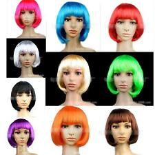 Women Girls Fashion Style Short Straight Fluffy Hair Repair Face Neat Bangs Wig
