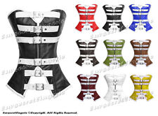 #H8177 Genuine Leather Full Steel Boned Heavy Lacing Overbust Shaper Corset