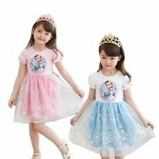 Girls Ballet Tutu Fancy Dresses 2-7Y Kids Skirts Clothing Elsa Anna Princess New