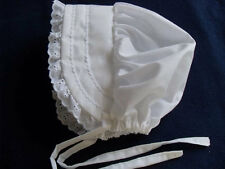 Toddler Solid White Easter Bonnet Sunhat fits 2T, 3T, 4T,5T NEW