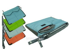 Nylon Sleeve Clutch Carry Bag Pouch with Pockets Wrist Strap for iPad Tablet