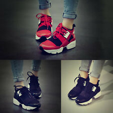 Womens Fashion Color Block Lace Up Sneakers Hiking Athletic Running Sport Shoes