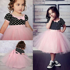 Costume Kids Pageant Prom Party Dress Tutu Ballgown Wedding Bridesmaid Dress