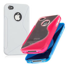 TPU SILICONE CASE FOR APPLE IPHONE 4 4S SOFT COVER SILICON PROTECTION MOBILE