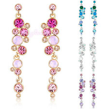 Multi-color round crystal earring lady circle earring dangle E620 E621 E622 E623