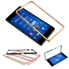 Luxury Ultra Thin Slim Metal Bumper Frame Case Cover For Sony Xperia Z3