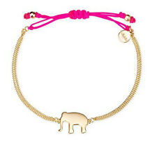 WISHING BRACELET HORSESHOE ELEPHANT ARROW & Hot Pink, good luck charm dot