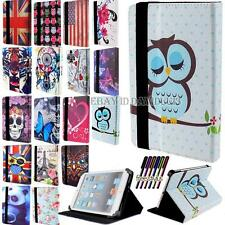 "Universal 7 ""Folio Pelle Stand Custodia Cover Per Android Tablet PC 7 Pollici + Stylus"