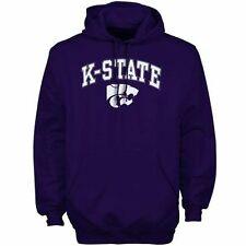 Mens Purple Kansas State Wildcats Arch Over Logo Hoodie