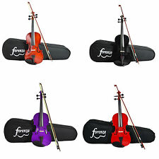 Forenza Uno Series Violin Outfit with Case and Accessories. 4/4 - 1/4 Size