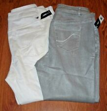 Lane Bryant Genius Fit Shimmery Skinny Jeans choose Gray/Silver or White 14-28