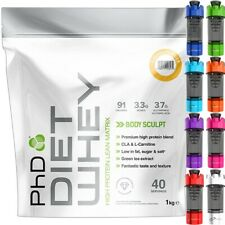 PhD Nutrition Diet Whey Protein 1kg/2.2lb - All Flavour + Free Cyclone Shaker