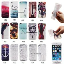 New Colorful Painted Ultra Slim Soft Clear TPU Cover Case Skin For Apple iPhone